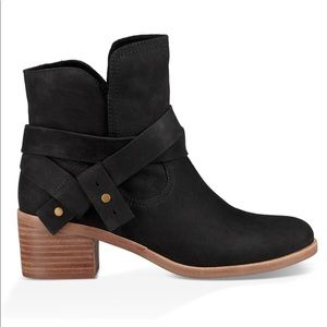 UGG Elora Ankle Bootie Boots Black 8